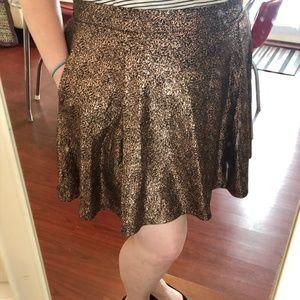 Torrid Metallic Rose Gold Skater Skirt Size 1